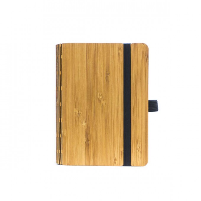 JUNGHOLZ Design Notizbuch, WoodBook, Bambus, A6