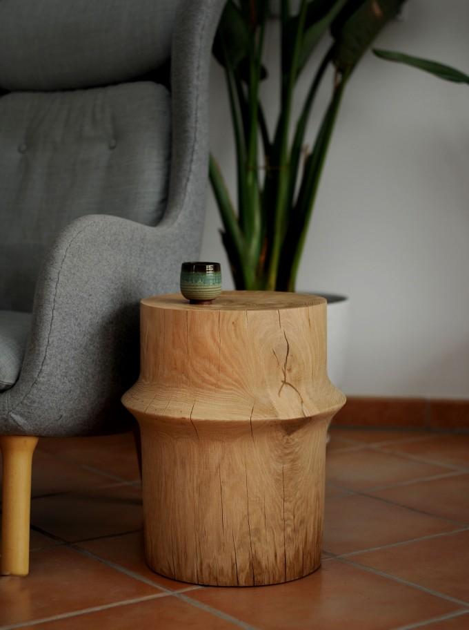 OnePieceWood – couchtisch -simple orient shape - natural oak