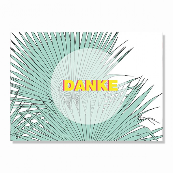 "ZEITLOOPS Postkarte ""Danke"""