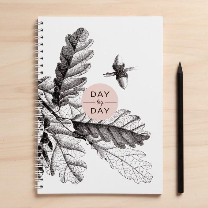 """Amy & Kurt Berlin A5 Notizbuch """"Day by day"""""""