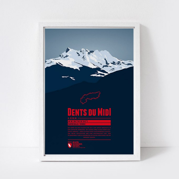 Marmota Maps – Dents du Midi - Bergdruck