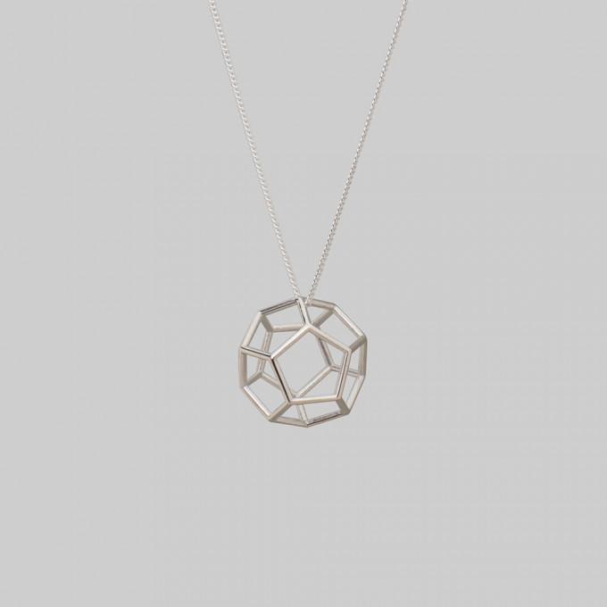 """Teresa Gruber Anhänger  """"platonic solids- """"Dodekaeder"""", 925 Silber"""