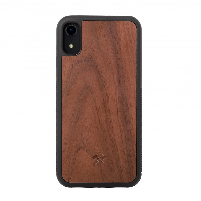 Woodcessories - EcoBump - Premium Design Hülle, Case, Cover, Schutzhülle für das iPhone aus FSC zertifiziertem Walnuss Holz (iPhone Xr)