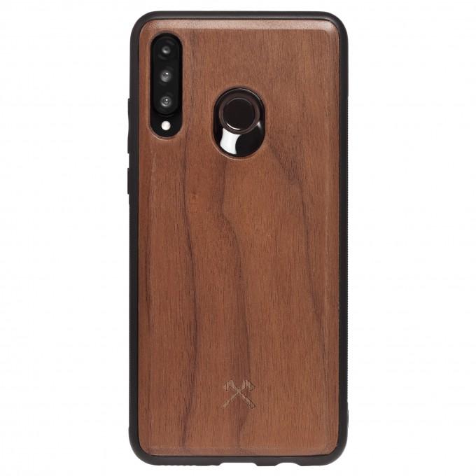Woodcessories - EcoBump - Premium Design Hülle, Case, Cover, Schutzhülle für das Smartphone aus FSC zertifiziertem Walnuss Holz (Huawei P30 Lite)