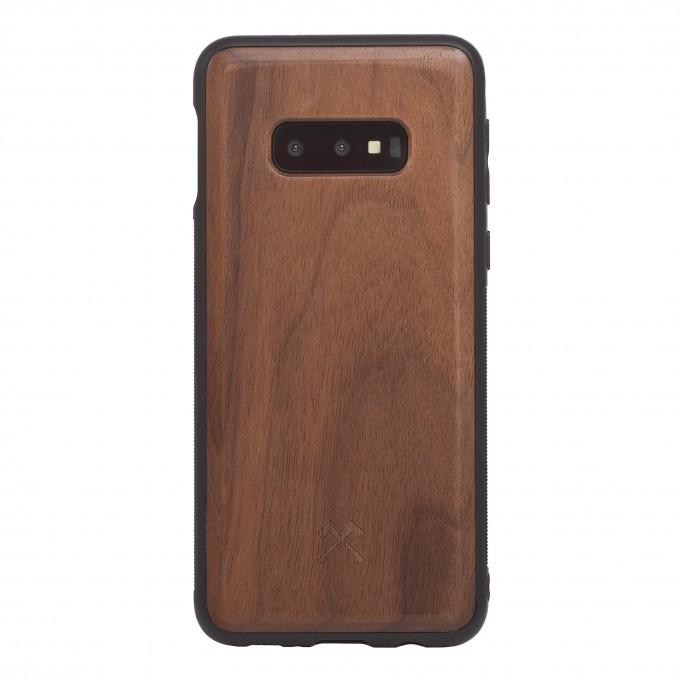 Woodcessories - EcoBump - Premium Design Hülle, Case, Cover, Schutzhülle für das Smartphone aus FSC zertifiziertem Walnuss Holz (Samsung S10e)