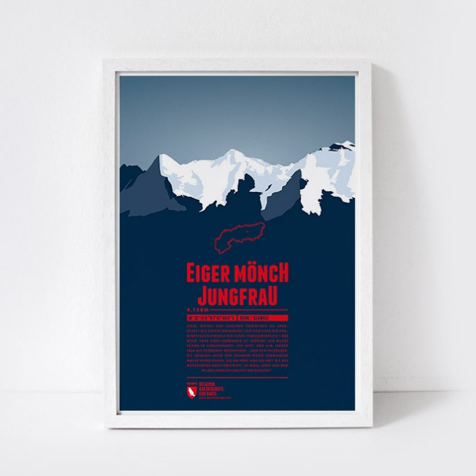 Marmota Maps – Eiger - Mönch - Jungfrau - Bergdruck