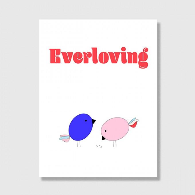 """ZEITLOOPS """"Everloving"""", Posterprint 30x40 cm"""