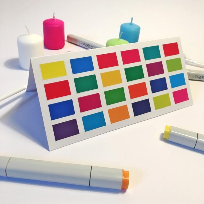 FORMLOS Berlin –Adventskalender mit Komplementär-Farben – finde die richtige Farbe!