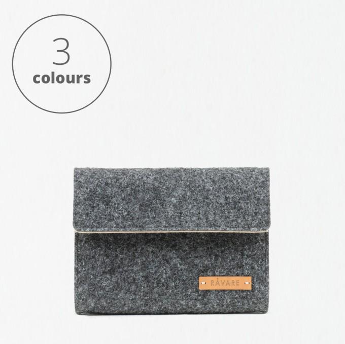 RÅVARE Kabeltasche Laptop Notebook Zubehör mit Klett in verschiedenen Farben [FEMKE]