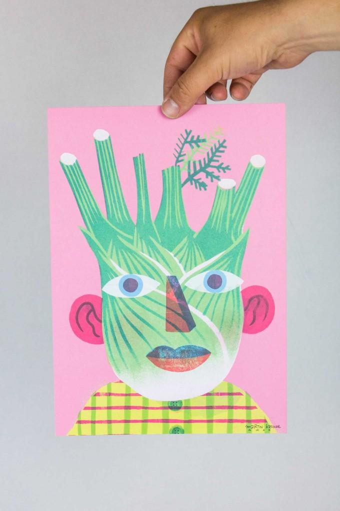 Martin Krusche - Poster »Fenchelface« DINA4