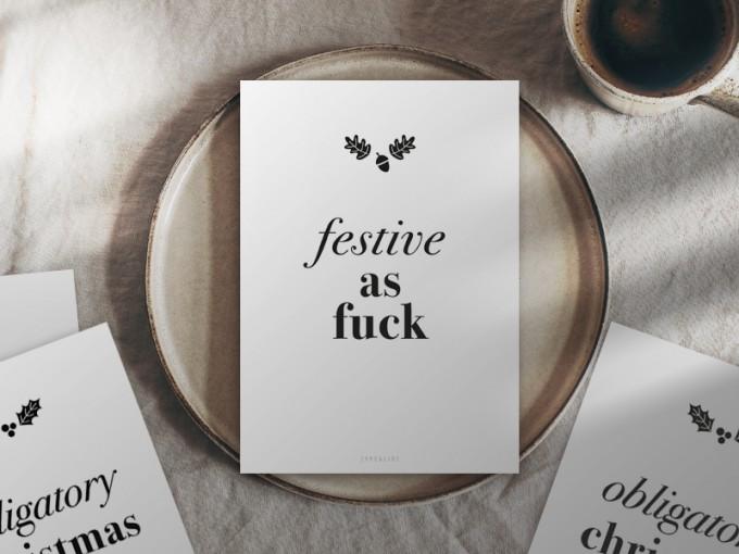 typealive / Weihnachtskarten 4er Set / Festive