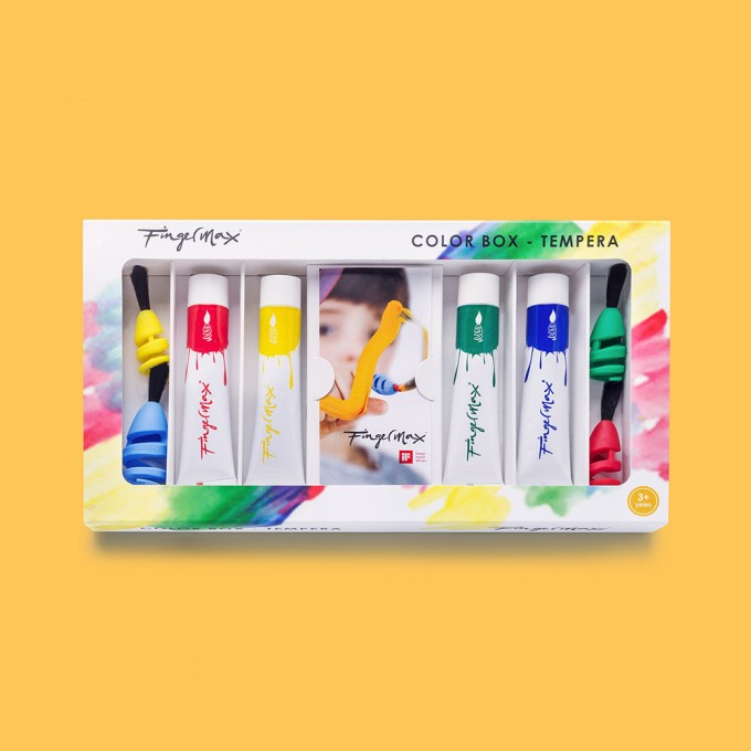 "FINGERMAX - Fingerpinsel Malkasten Set ""Colorbox"""
