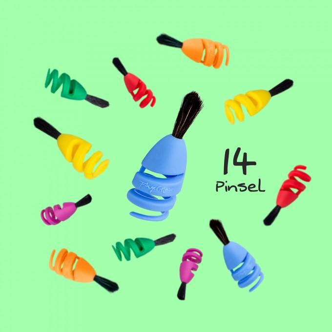 FINGERMAX - Kinderparty Set (14 Stück Fingermax Pinsel)