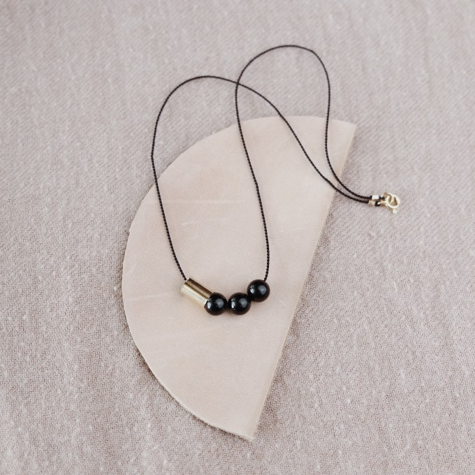 BRASSCAKE // Onyx Necklace