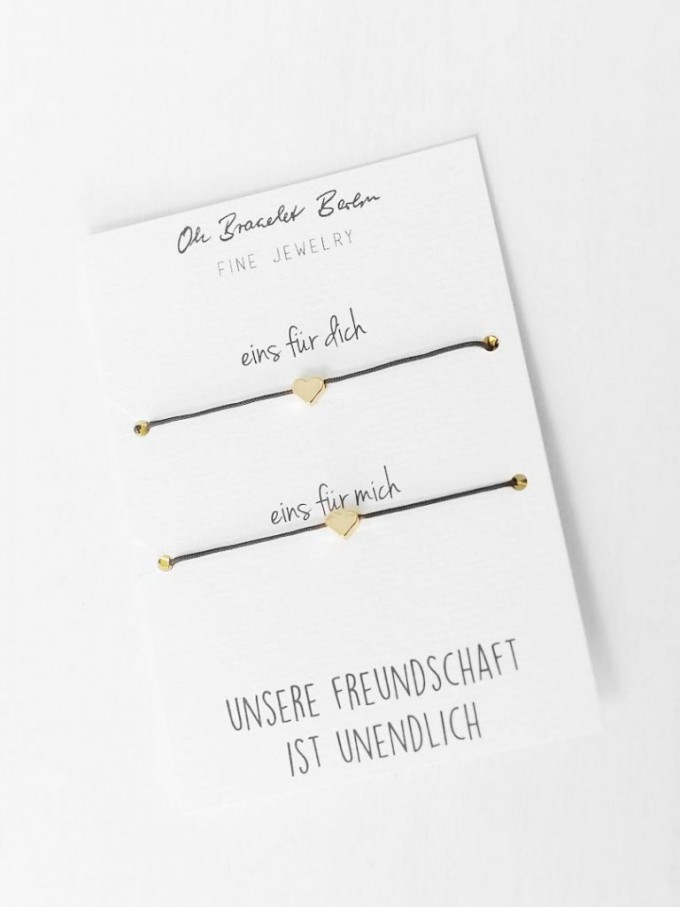 Oh Bracelet Berlin - 2er Set Freundschaftsarmband »Herz«