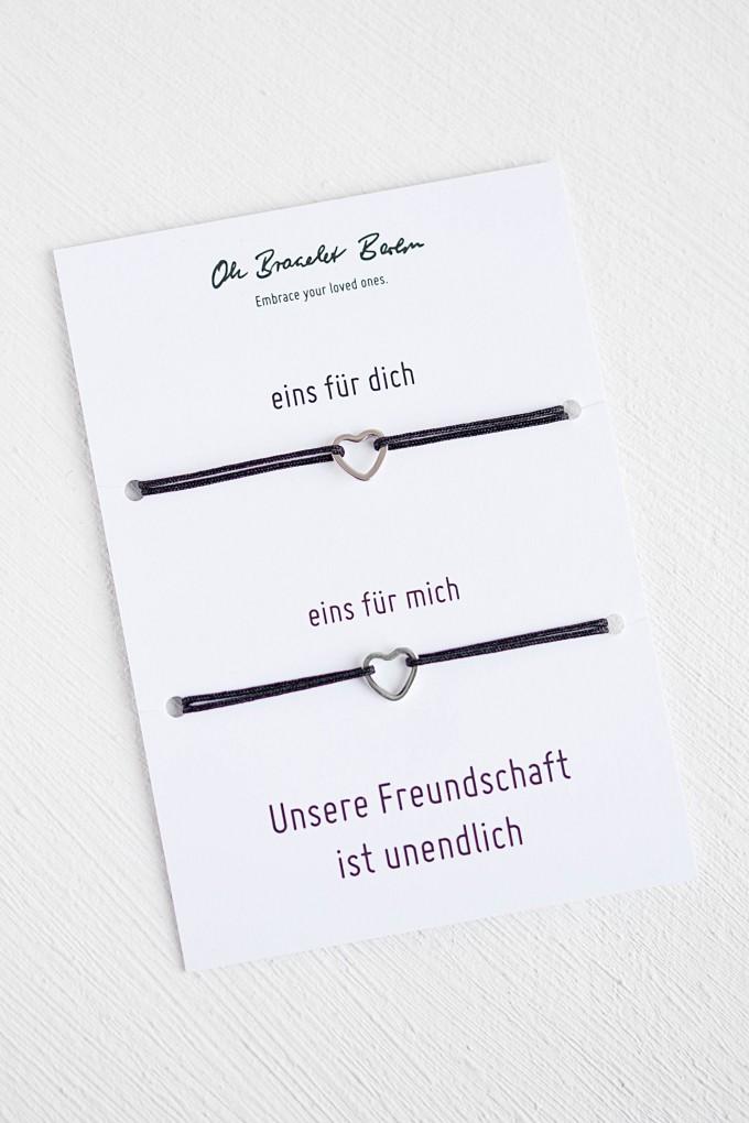 Oh Bracelet Berlin - 2er Set Freundschaftsarmband »Herz Outline«