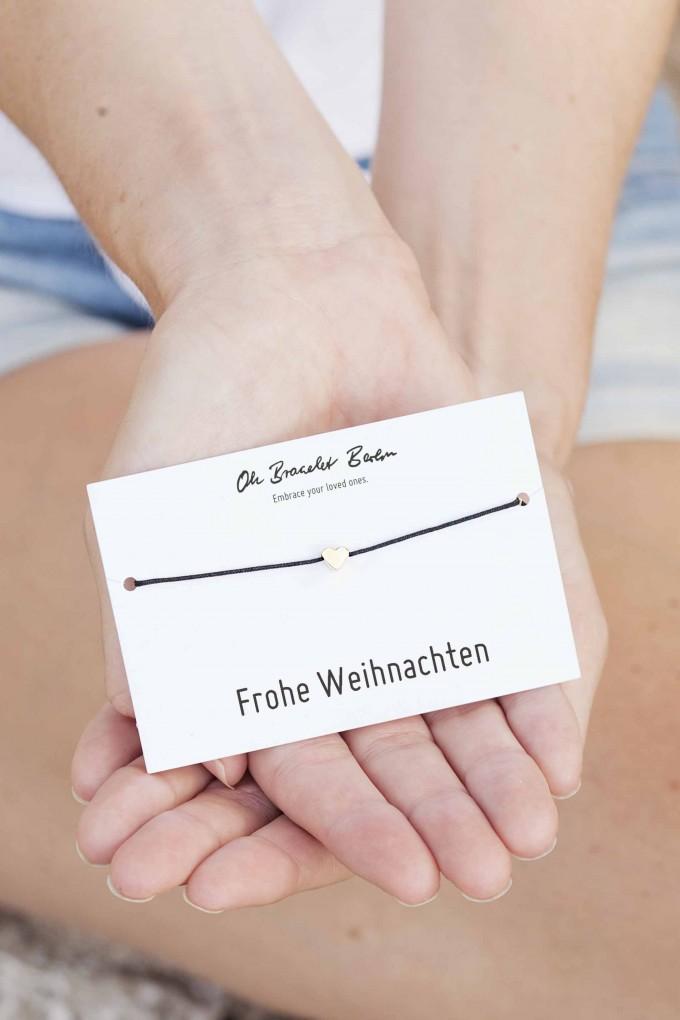 "Oh Bracelet Berlin – Nylonarmband ""Frohe Weihnachten"""
