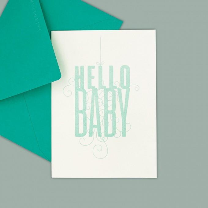 Feingeladen // FANCY TYPE // Hello Baby (MI) – A6