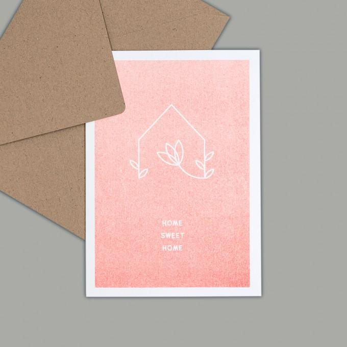 Feingeladen // SIMPLY DIVINE // Home »Home Sweet Home« (FO) // RISO-Klappkarte, A6