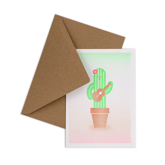 Feingeladen // GOOD TIMES // Cactus (FRFG) // RISO-Klappkarte, A6