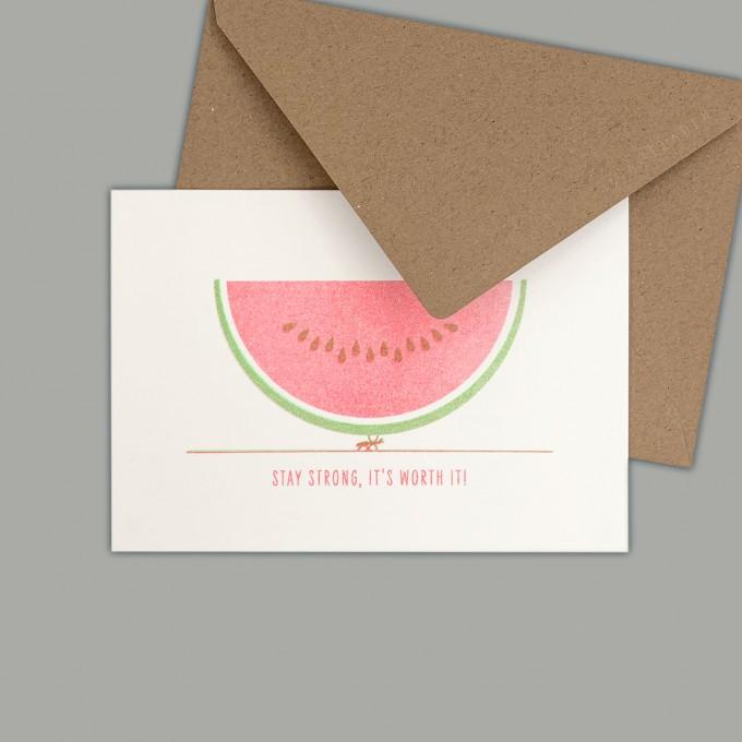 Feingeladen // GOOD TIMES // Watermelon (FRFG) // RISO-Klappkarte, A6