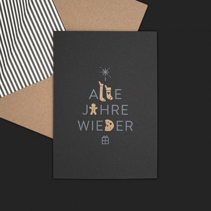 Feingeladen // TYPOGRAFICA // Alle Jahre Wieder (Black Edition)