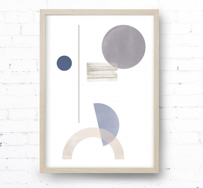 Kruth Design POSTER / GEO ART BLUE