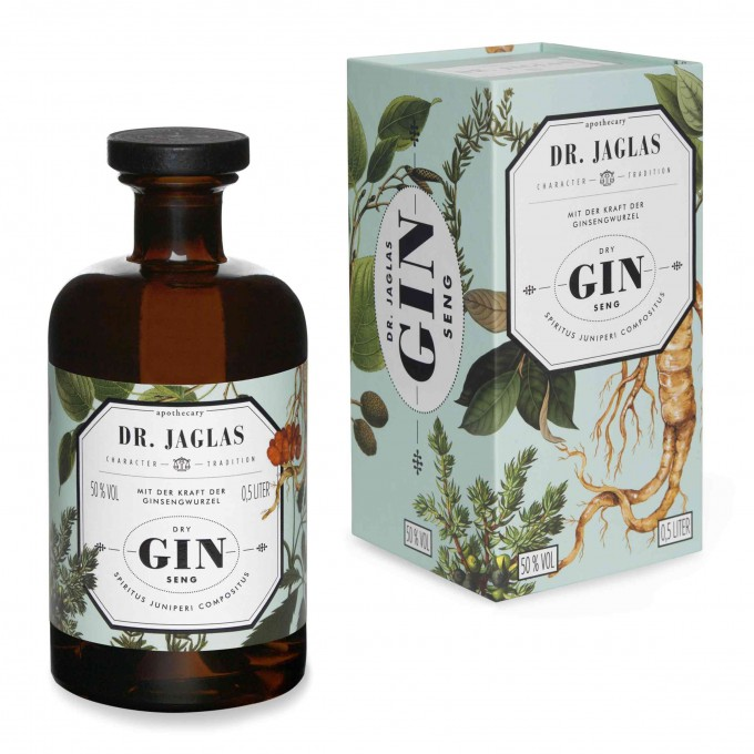 DR. JAGLAS Dry GIN-seng  500ml Navy Gin 50%vol.