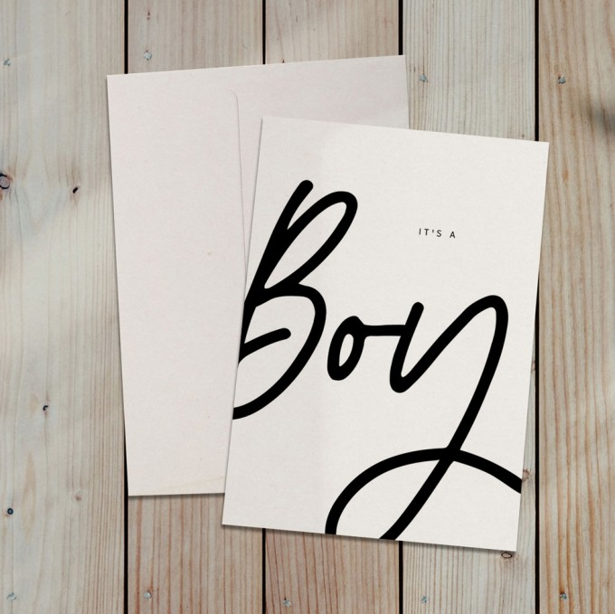"Love is the new black – Grußkarte ""Boy"""