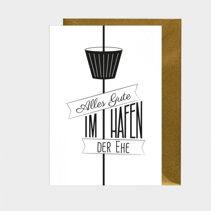 HOOK&EYE Grußkarte 'Ehe' 3er-Set