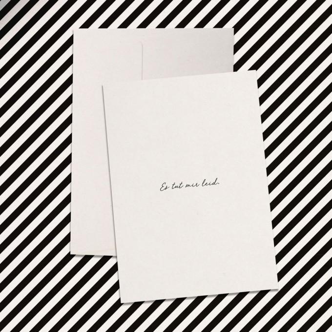 """Love is the new black – Grußkarte """"Es tut mir leid"""""""