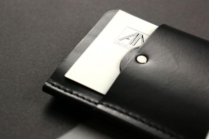 Alexej Nagel Gentleman Slim Wallet aus Premium Leder - schwarz [BL]