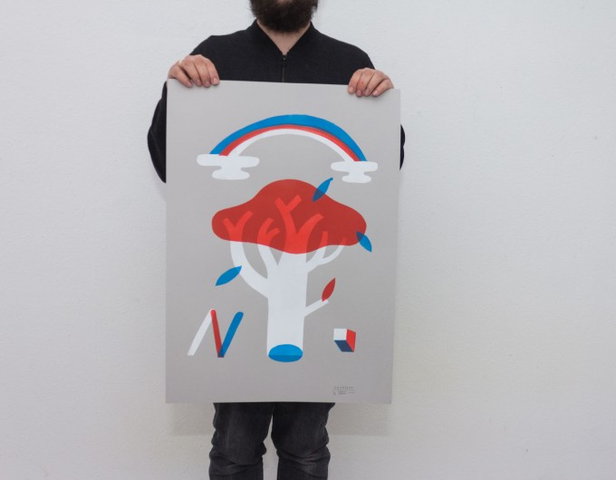 Martin Krusche – Stencil Artprint »Garden«, 50x70cm