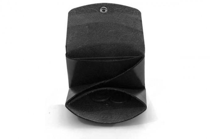 DUKTA one piece Origamifaltung Portemonnaie 2 Leder schwarz