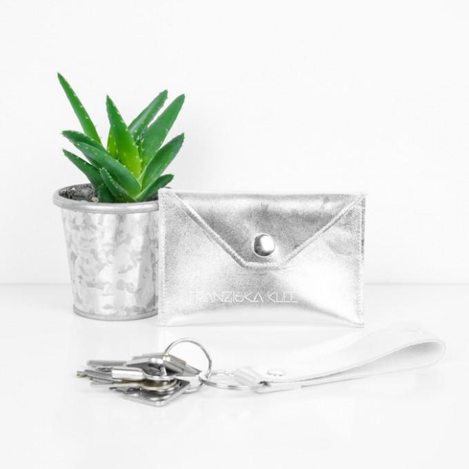 Franziska Klee Geschenkset: Etui und Schlüsselanhänger (silber)
