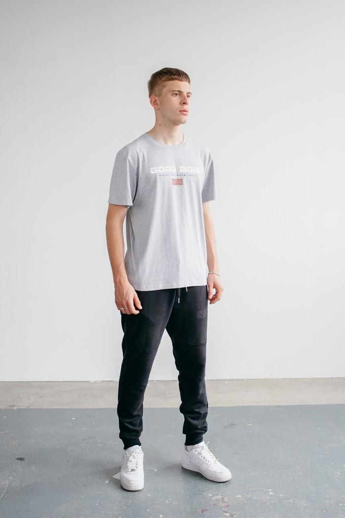Goodbois Euro Flag T-shirt grey