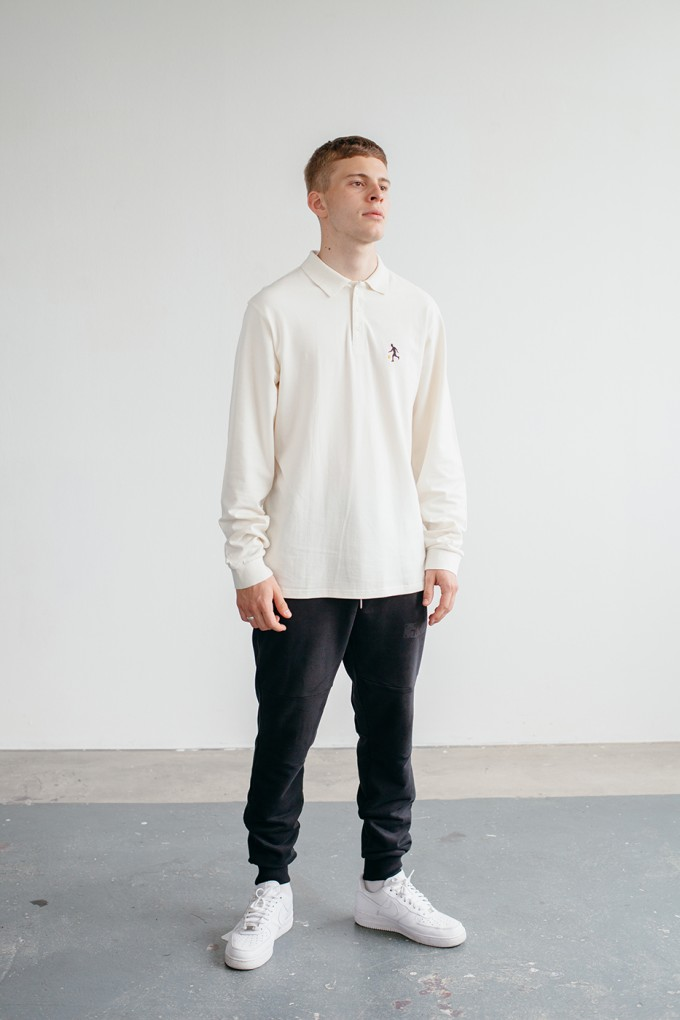 Goodbois Player Icon Polo Longsleeve off-white