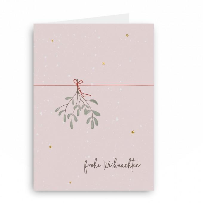 melike Grußkarte Mispel frohe Weihnachten