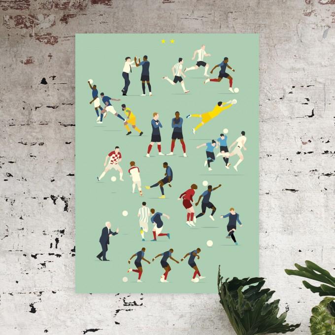 """""""Champions du Monde"""" Fußball-Poster von HANDS OF GOD FOOTBALL"""
