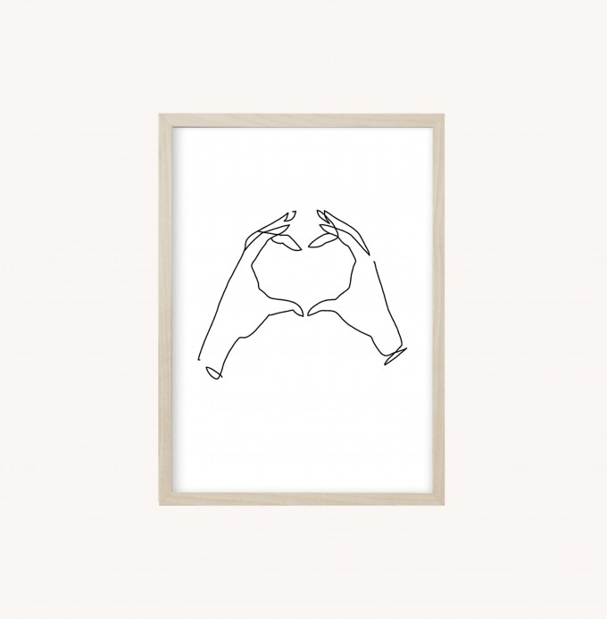 Kruth Design POSTER / ONELINE HEART