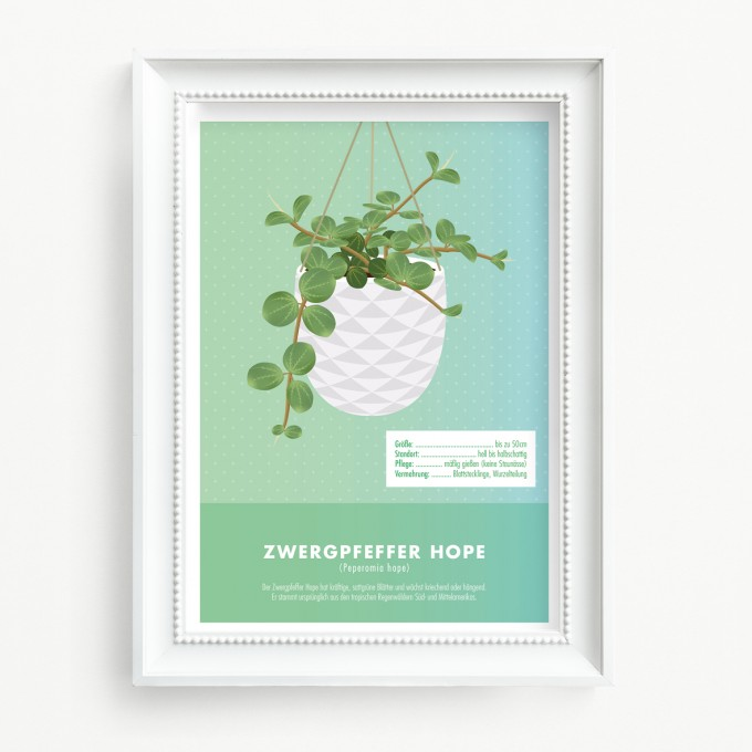 "Hey Urban Monkey - A4 Poster - ""Zwergpfeffer hope"""