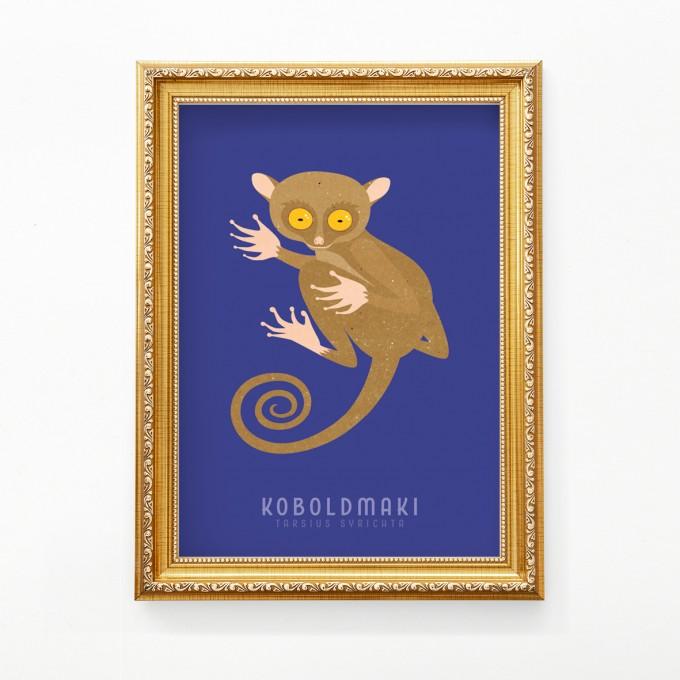 "Hey Urban Monkey - A4 Poster - ""Koboldmaki"""