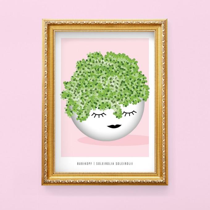 "Hey Urban Monkey - A4 Poster - ""Bubikopf"""