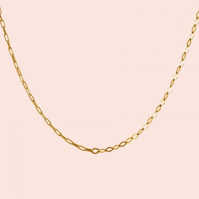 related by objects - just diamonds necklace - 925 Sterlingsilber 18k goldplattiert