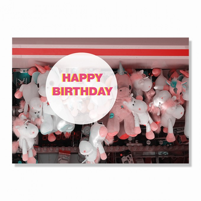 """ZEITLOOPS Postkarte """"Happy Birthday"""""""