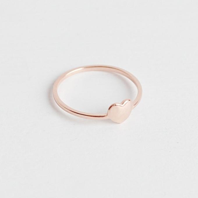 Oh Bracelet Berlin – Herz Ring ll aus recyceltem 925er Sterlingsilber, rosévergoldet inkl. Box
