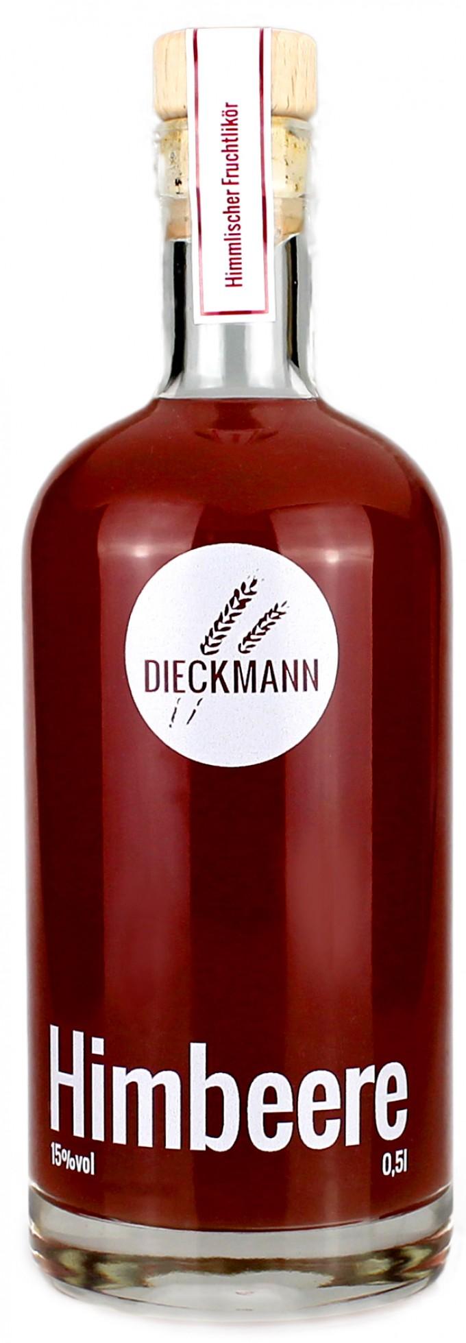 Weizenbrennerei & Likörmanufaktur Dieckmann Himbeere - Fruchtlikör LIKÖR 15%vol., 0,5l