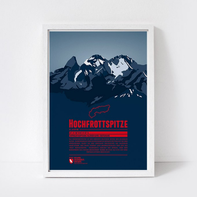 Marmota Maps – Hochfrottspitze - Bergdruck