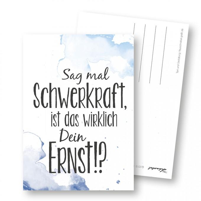 "Martina Olonschek | Postkarte ""Schwerkraft"" 5er-Set"