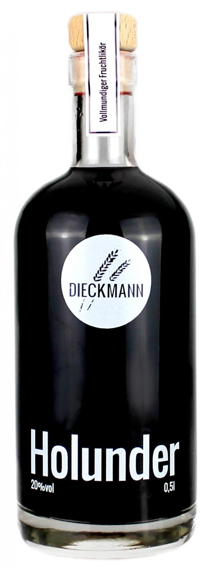 Weizenbrennerei & Likörmanufaktur Dieckmann Holunder - Fruchtlikör LIKÖR 20%vol., 0,5l